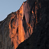 Firefall, i.e. Horsetail Falls, in Yosemite National Park