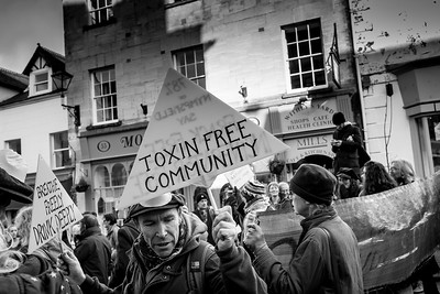 Anti incinerator protest held in Stroud on 17 Jan 2015, Gloucestershire