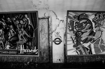 Billboards in the London Underground