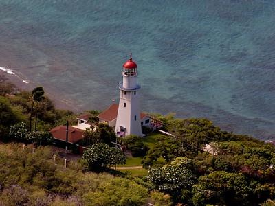 Diamond Head Lighthouse From Diamond Head Summit