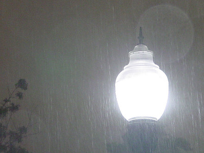 Lamp in the Rain