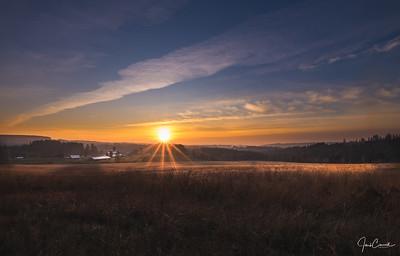 December Farm Sunset