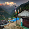 Annapurna South from Ghandruk Village, Nepal