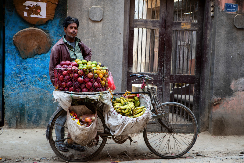 Fruit Seller in Kathmandu