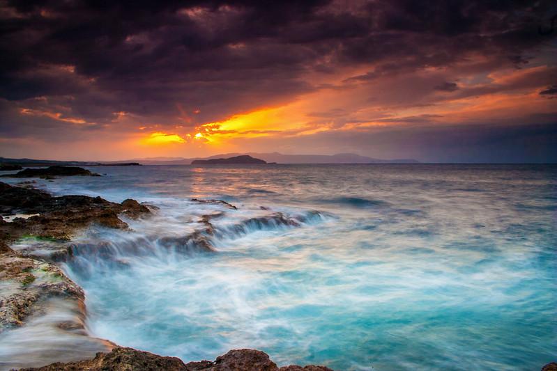 Sunset at Chania, Crete