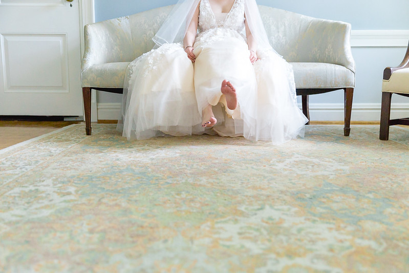 Bride's feet - a flirty image of a  Houston Wedding day