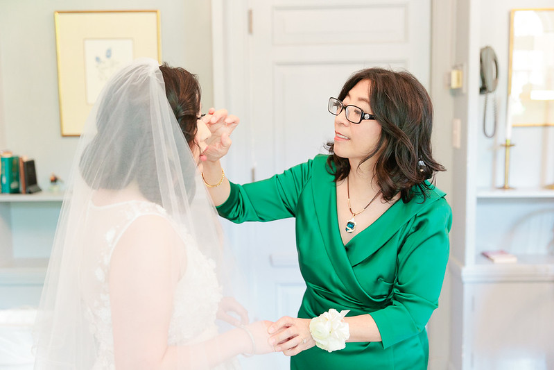 A tender moment of Bride and mother on her wedding day!