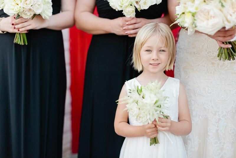 Flower girl wedding day photography in Houston, TX