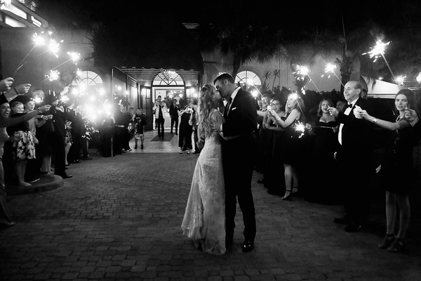 Sparkling exit at the La Colombe D'or in Houston TX
