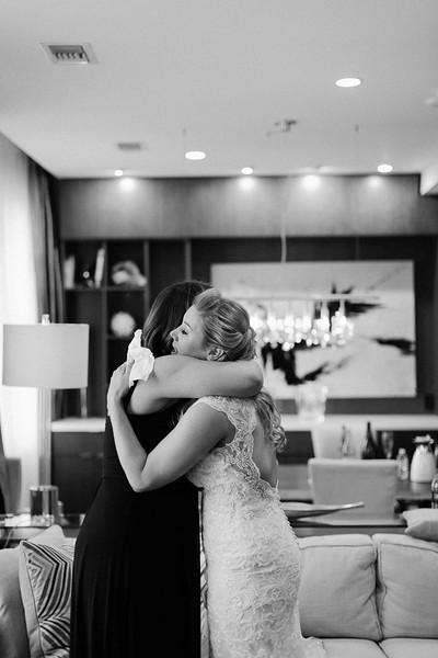 Wedding day emotions