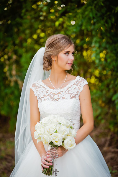 Sweet countryside Wedding day Bridal portrait
