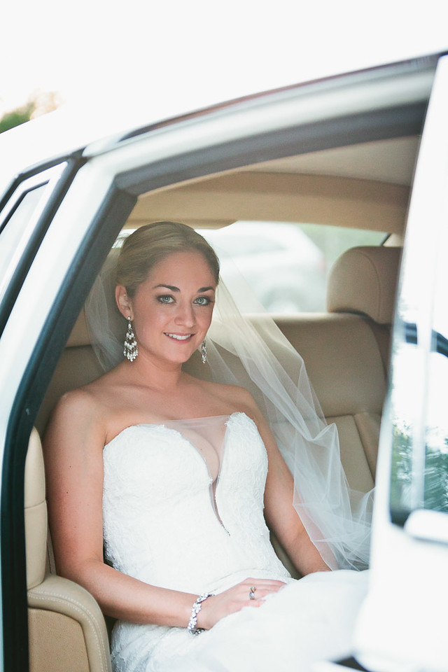 Bride portrait before ceremony at the Dunlavy Houston TX