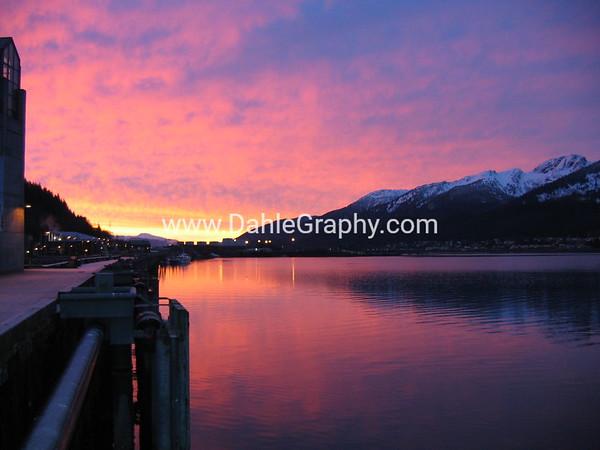 Juneau, Alaska - #1 - Sunrise over Gastineau Channel