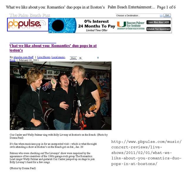 Palm Beach Post_RomanticsLivesSays 1
