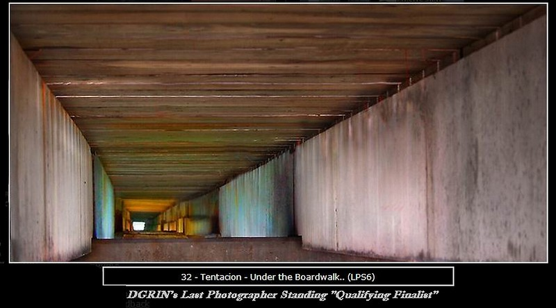 In the crawlspace underneath the Fort Lauderdale Beach Fishing Pier