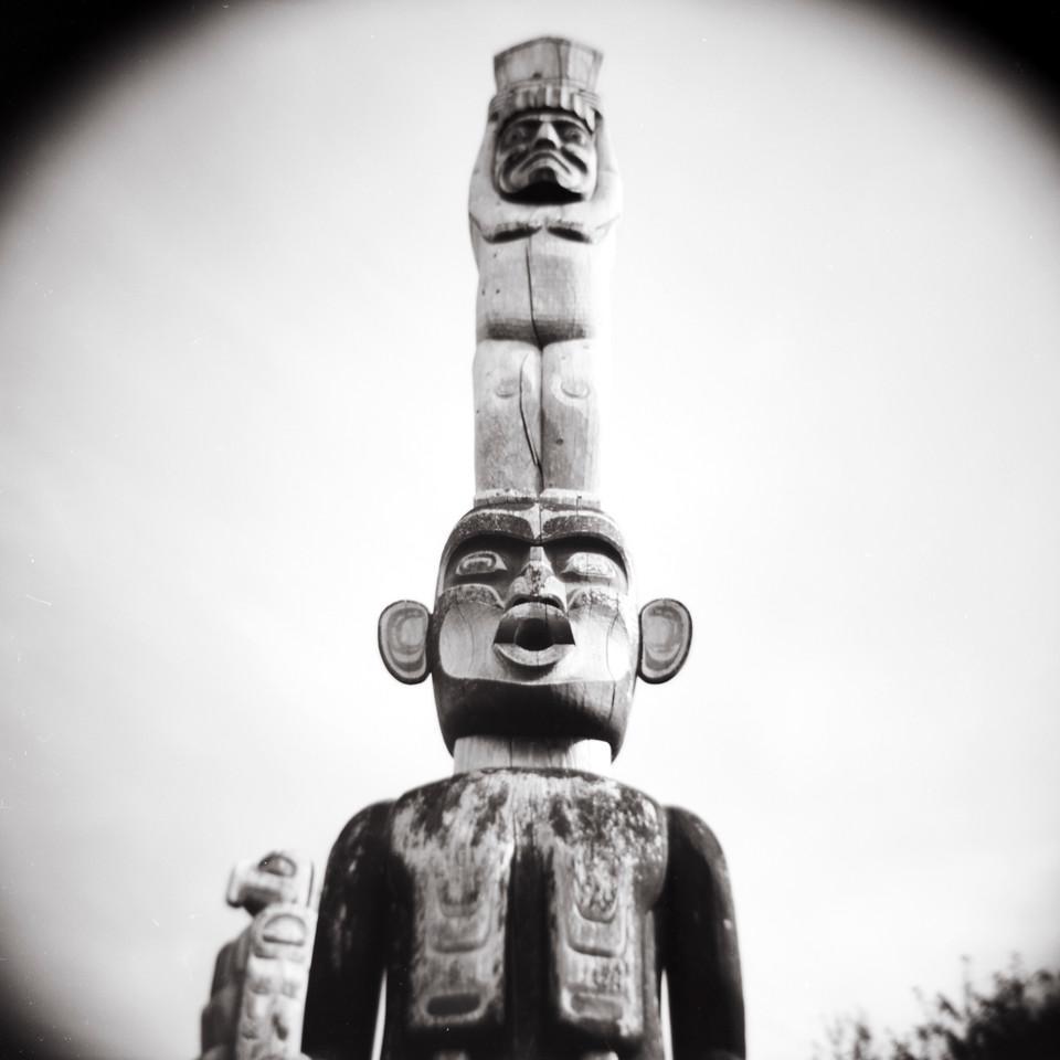 SDzunukwa & Eagle, Alert Bay, BC. 2014.