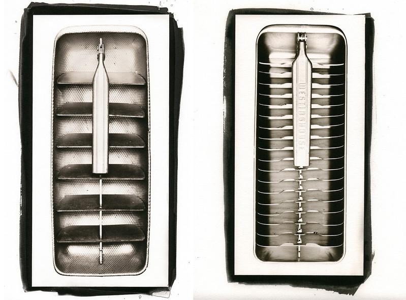 Ice Tray #3 and Ice Tray #5,  Kallitype Prints. 2008.