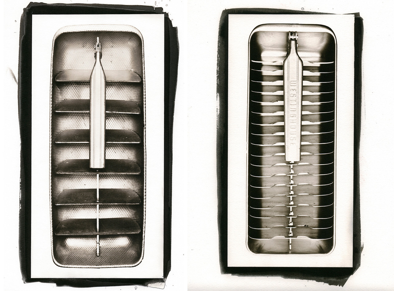 Ice Tray #3 and Ice Tray #5,  Kallitype Prints. 2008.