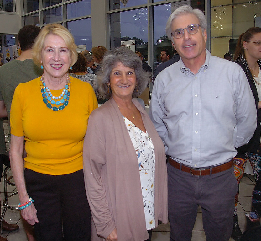 . Maine Line Media account executive Edna Woods takes a moment with Ardmore Initiative\'s former Executive Director, Christine Vilardo and former executive committee chair, Mike Silver at \'A Taste of Ardmore\' last week.