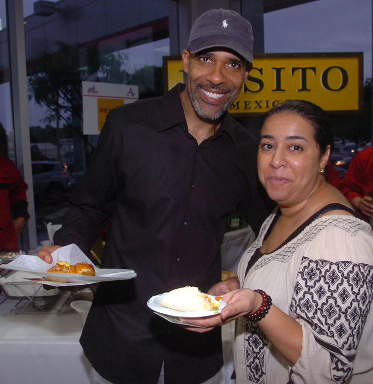 . Nasir and Saida Davis of Ardmore enjoy the flavor of Mexico from Besito\'s during \'A Taste of Ardmore\' held at Ardmore Toyota recently.