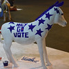 "PETE BANNAN-DIGITAL FIRST MEDIA    The Philadelphia 2016 Host Committee for the Democratic National Convention unveiled 57 fiberglass ""Donkeys Around Town.""  Each of the donkeys represents a Democratic delegation that will be in town for the Convention and, upon completion, will be placed around Philadelphia to celebrate the 2016 Democratic National Convention.  The Texas donkey by Barbara Sasson of Philadelphia."