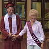 PETE  BANNAN-DIGITAL FIRST MEDIA           Lower Merion senior Henry Finch greets Patsy DiPuppo, Lower Merion Class of '57 at the start of commencement at Hagan Arena at St. Joseph's University Wednesday evening.