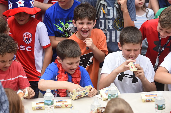 Narberth Pie eating contest 2016
