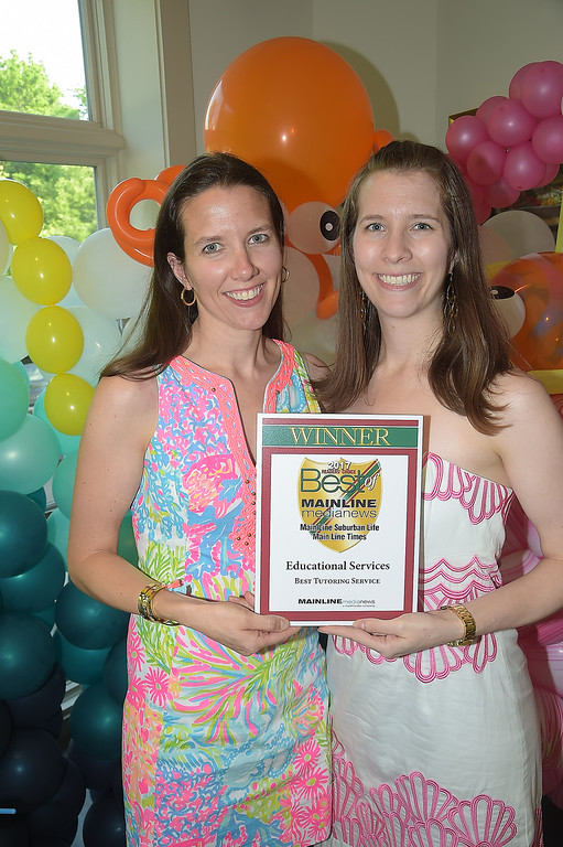 . PETE BANNAN - DIGITAL FIRST MEDIA      The Main Line Readers Choice Party was held at the Wayne Art Center Wednesday. Alexandra McIlvaine and Julia Taunay of Educational Service were among the businesses honored as the Best of the Main Line.