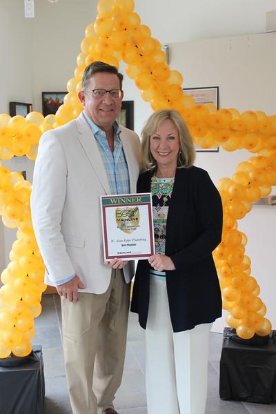 Shelley Meenan - Digital First Media<br /> Alan and Ellen Epps of Epps Plumbing, which won Best Plumber.