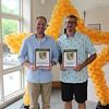 Shelley Meenan - Digital First Media<br /> Ryan Ercole, of Berwyn Lawnmower, which won Best Lawnmower Sales/Service,  and Jim Judge, of Do It Best Hardware Center of Wayne, Best Hardware Store.