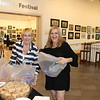 Shelley Meenan - Digital First Media<br /> Sales representatives Edna Woods and Karen Donehower help set up for the Best of Main Line Media News Readers' Choice winners reception.