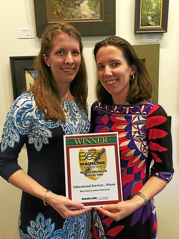 ". Julia Taunay director of Operations, and Alexandra Alford, director of Education at Educational Services in Wayne win for ""Best Educational Services.\"""