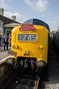 D9009 'Alycidon' at Swanage after arriving with 'The Swanage Belle' from Burton-onTrent.