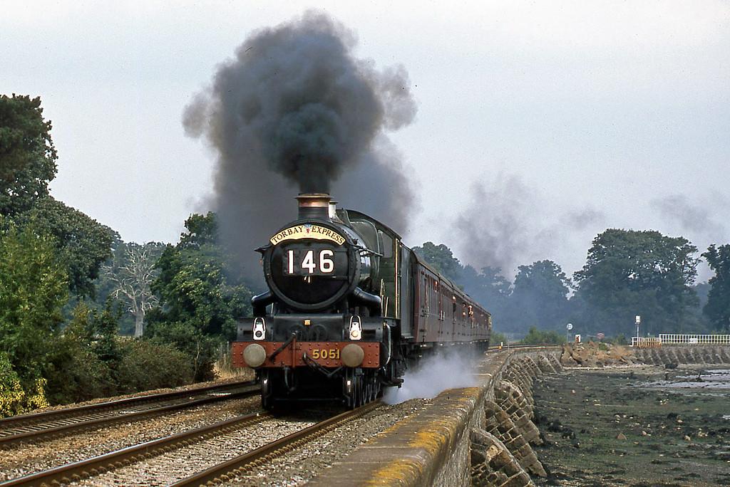 5051, 09.15 Bristol Temple Meads-Kingswear, Torbay Express, Starcross, 24-8-03.