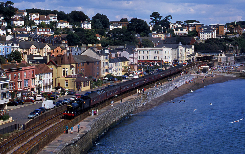 7802, Bristol Temple Meads-Kingswear, Torbay Express, via Westbury, Dawlish, 31-8-03,