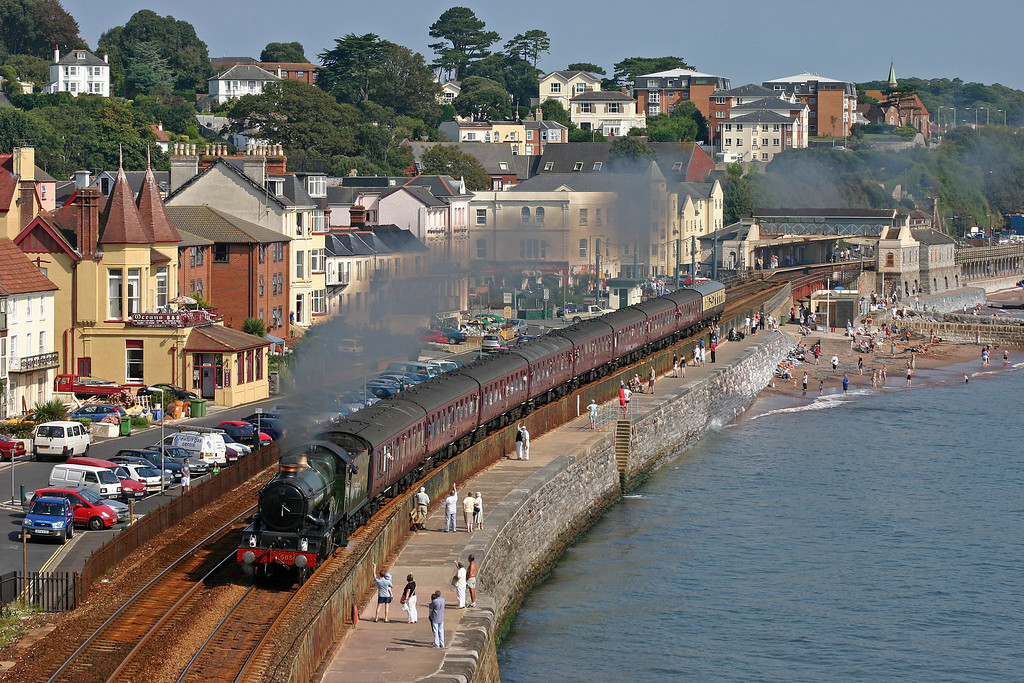 5051, 09.00 Bristol Temple Meads-Kingswear, Dawlish, 5-9-04.