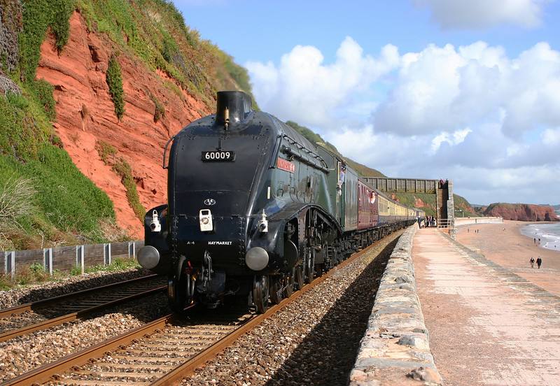 60009, Union of South Africa, Worcester-Kingswear portion of Watford-Kingswear-Watford special, Dawlish 1-10-05.