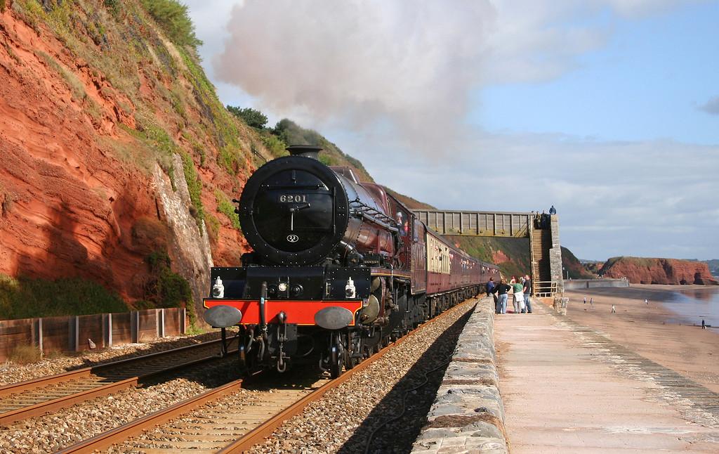 6201, Bristol-Plymouth, The Devonian, Dawlish, 7-10-06.