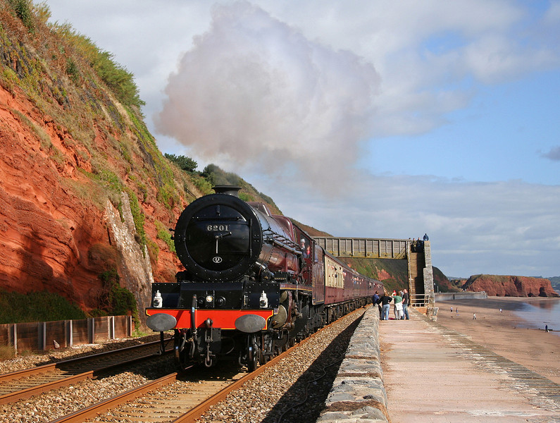 6201, Bristol-Plymouth, The Devonian, Dawlish, 7-10-06.