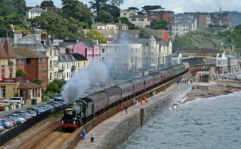 6024, 09.19 Bristol Temple Meads-Kingswear, Torbay Express, Dawlish, 8-7-07.