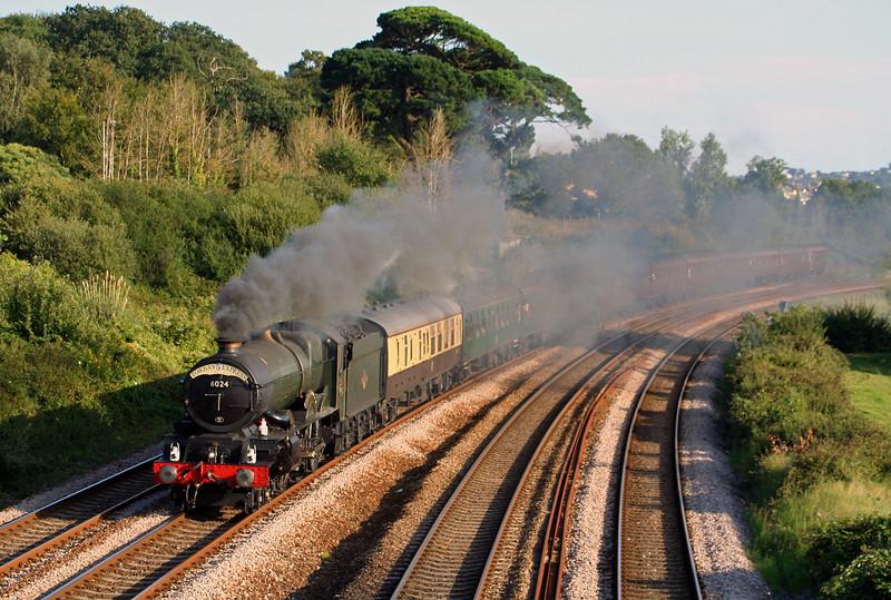 6024,17.17 Kingswear-Bristol Temple Meads, Torbay Express, Aller Divergence, Newton Abbot, 26-8-07.