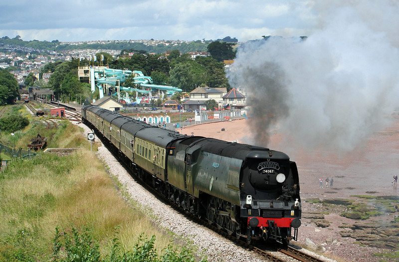 34067, 09.18 Bristol Temple Meads-Kingswear, Torbay Express, Goodrington, near Paignton, 6-7-08.