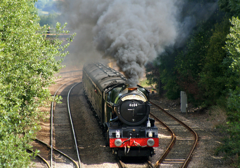 6024, 09.18 Bristol Temple Meads-Kingswear, Torbay Express, Willand, near Tiverton, 20-7-08.