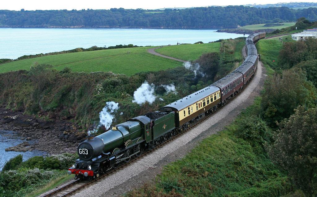 6024, 17.17 Kingswear-Bristol Temple Meads, Torbay Express, Saltern Cove, Paignton, 20-9-09.