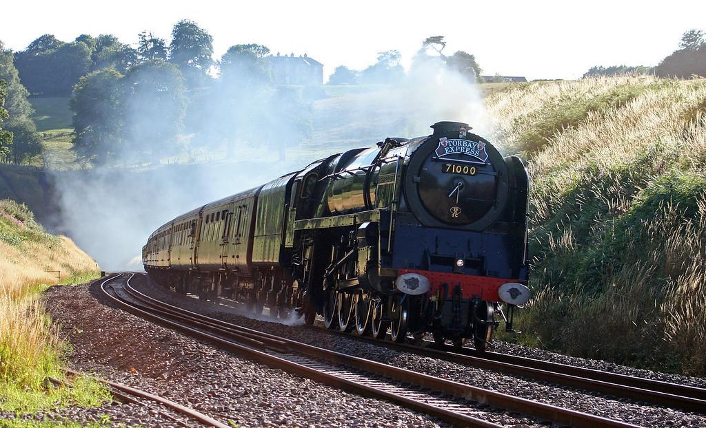 71000, 16.42 Kingswear-Bristol Temple Meads, Torbay Express, Marlands, near Wellington, 25-7-10.