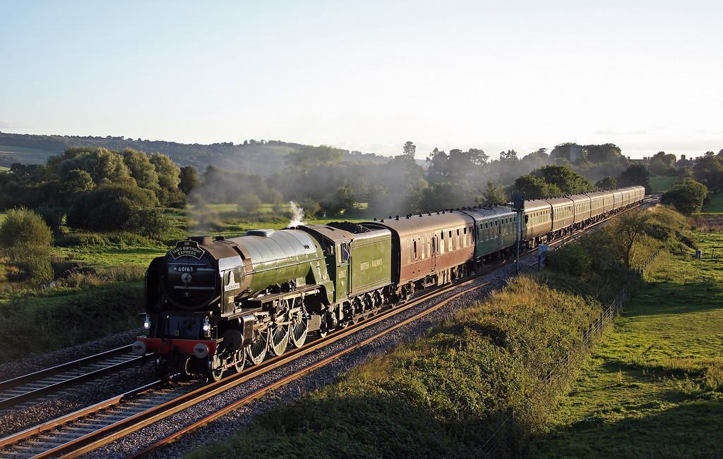 60163, 16.42 Kingswear-Bristol Temple Meads, Torbay Express, Rewe, near Exeter, 26-9-10.