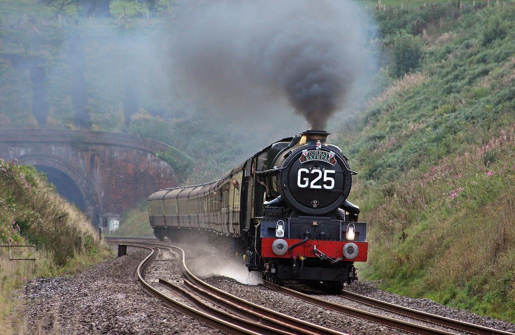 6024, 16.42 Kingswear-Bristol Temple Meads, Torbay Express, Marlands, near Wellington, 5-9-10.