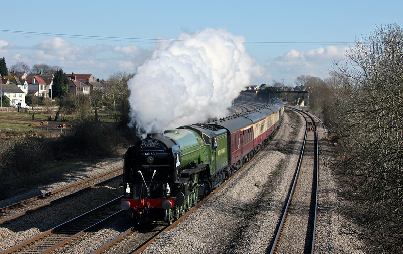 60163, 08.45 London Victoria-Swansea, The Cathedrals Express, Magor, 1-3-10.