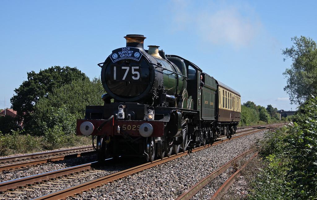 5029, Bristol St Phillips Marsh-Bishops Lydeard (on the West Somerset Railway), Bathpool, Taunton, 30-8-10,