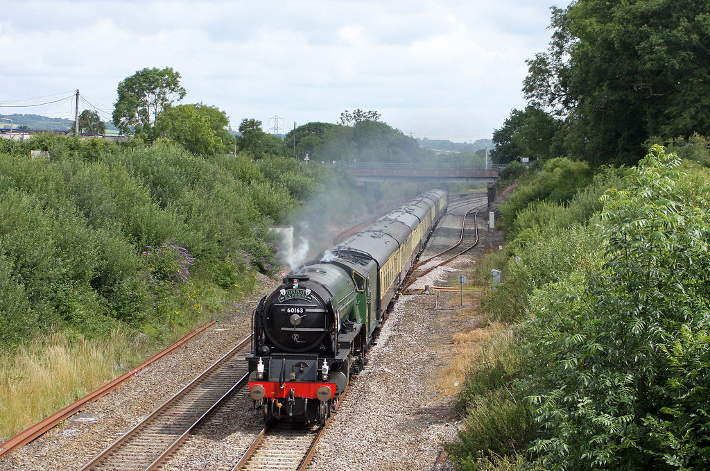 60163, 09.15 Bristol Temple Meads-Kingswear, Torbay Express, Willand, near Tiverton, 10-7-11.